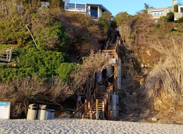 stairs leading up from table rock beach photos laguna beach ca